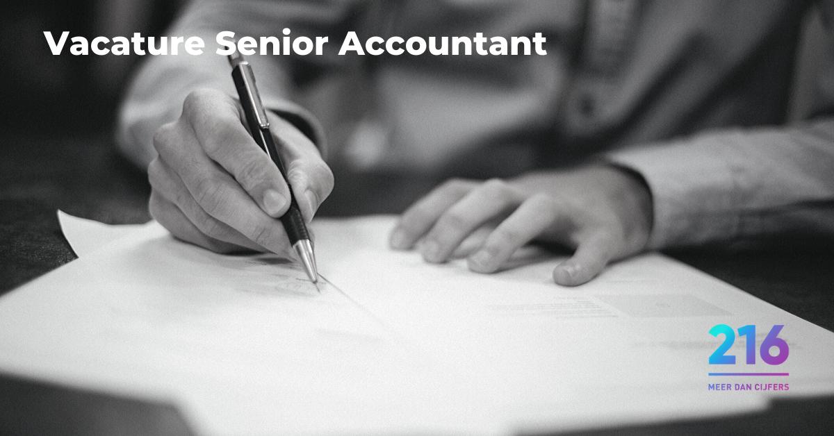 Vacature senior accountant